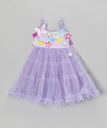 Lilac Pretty Garden Dress - Toddler & Girls
