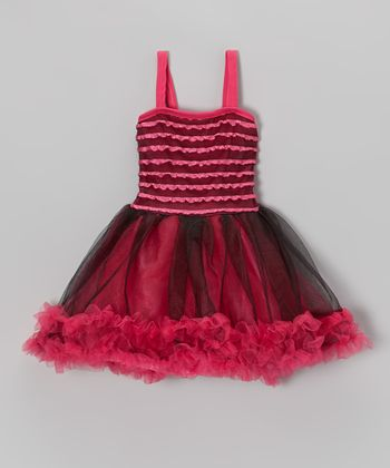 Fuchsia Pettiskirt Dress - Toddler & Girls