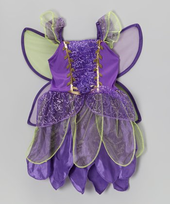 Purple Fairy Wing Flower Dress - Toddler & Girls