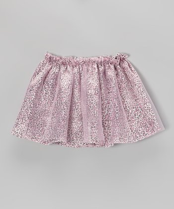 Pink Leopard Skirt - Girls
