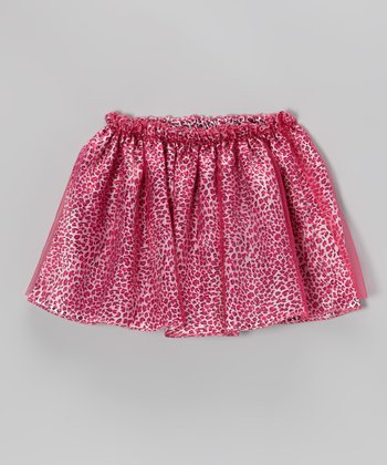 Fuchsia Leopard Skirt - Girls
