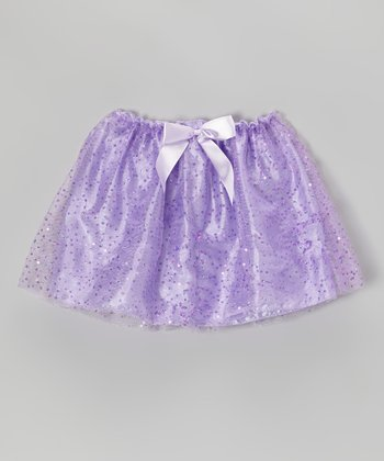 Lilac Sequin Bow Skirt - Girls