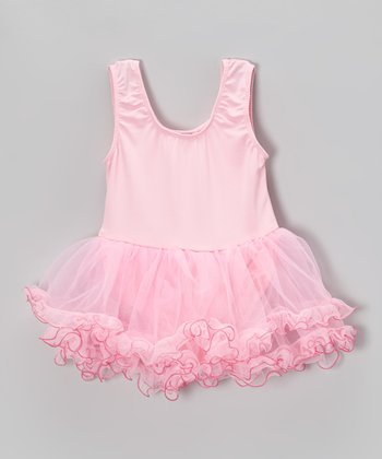 Pink Curly Skirted Leotard - Infant