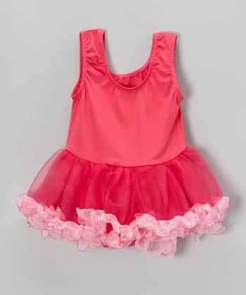 Fuchsia Curly Skirted Leotard - Infant
