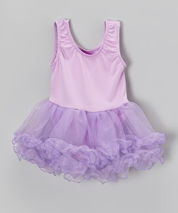 Lilac Curly Skirted Leotard - Infant