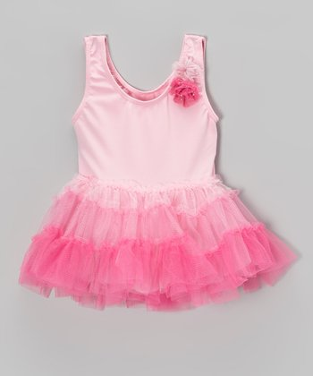 Pink Ombré Skirted Leotard - Infant