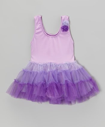 Purple Ombré Skirted Leotard - Infant