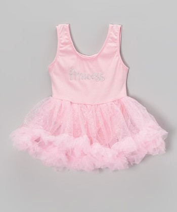 Pink 'Princess' Glitter Skirted Leotard - Infant