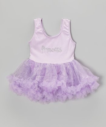 Lilac 'Princess' Glitter Skirted Leotard - Infant