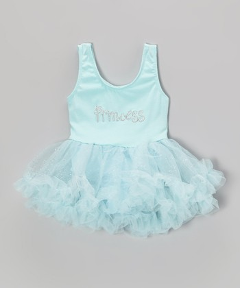 Turquoise 'Princess' Glitter Skirted Leotard - Infant