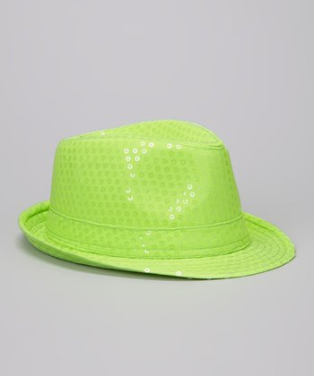 Neon Green Sequin Fedora