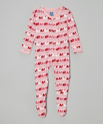 KicKee Pants Lotus Elephant Footie - Infant