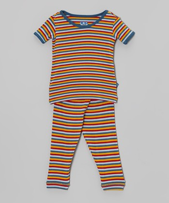 KicKee Pants Circus Stripe Pajama Set - Infant, Toddler & Boys