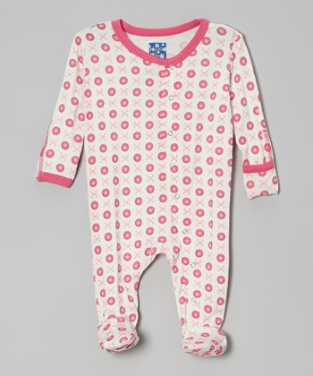 KicKee Pants Pink Jacks Footie - Infant