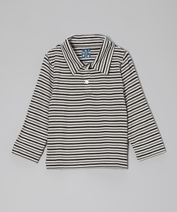 Raccoon Stripe Long-Sleeve Polo - Infant, Toddler & Boys