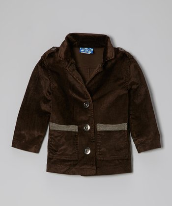 KicKee Pants Bark Distressed Corduroy Jacket - Infant & Toddler