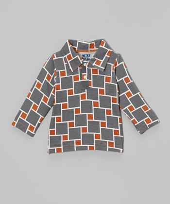 KicKee Pants Stone Lattice Long-Sleeve Polo - Infant, Toddler & Boys