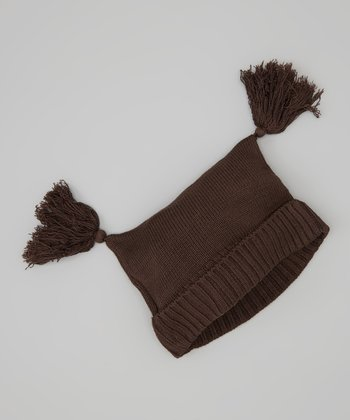 KicKee Pants Bark Tassel Knit Double-Knot Beanie