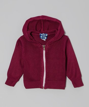 KicKee Pants Orchid Knit Zip-Up Hoodie - Infant