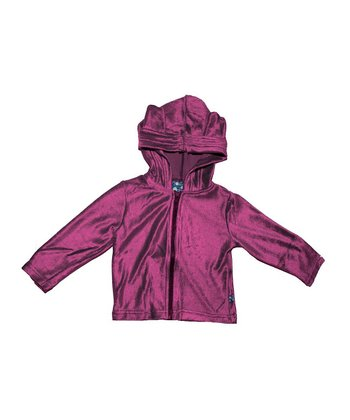 KicKee Pants Orchid Velour Zip-Up Hoodie - Infant & Toddler
