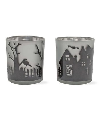 Halloween Glass Votive Set