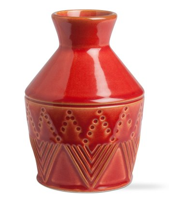 Red Sierra Medium Stoneware Vase