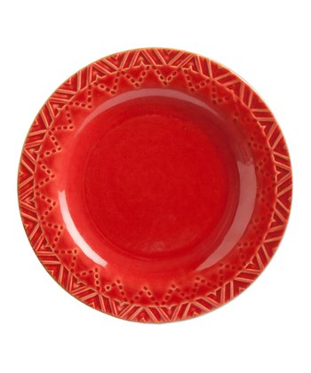 Red Sierra Stoneware Luncheon Plate
