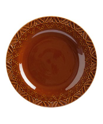 Brown Sierra Stoneware Luncheon Plate