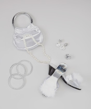 Silver & White Princess Accessory Set