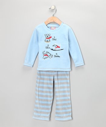Blue Dog Top & Pants