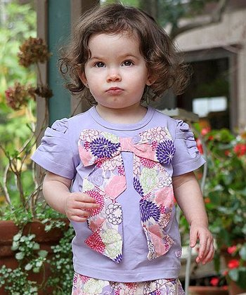 Lavender Bow Tee - Infant, Toddler & Girls