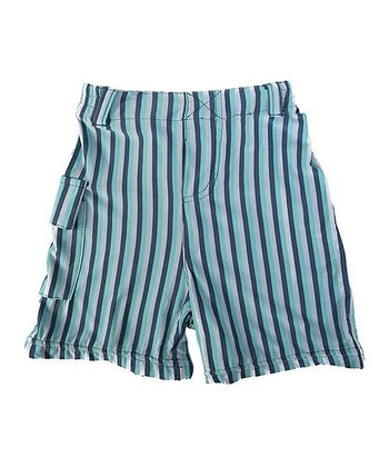 Blue Trapeze Stripe Pocket Shorts - Infant, Toddler & Boys