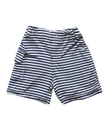 Navy Marquis Stripe Pocket Shorts - Infant, Toddler & Boys