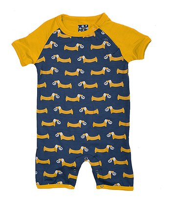 Twilight & Gold Pretzel Pup Romper - Infant
