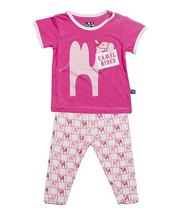 Lotus Camel Short-Sleeve Pajama Top & Pants - Infant & Toddler