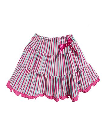 Soda Pop Stripe Tiered Ruffle Skirt - Infant, Toddler & Girls
