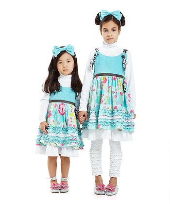 Ice Blue Panda Dress - Infant, Toddler & Girls