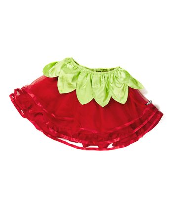 Red & Green Berry Skirt - Infant, Toddler & Girls