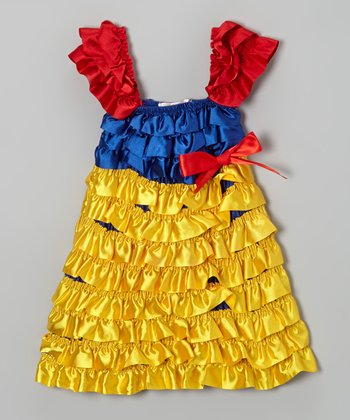 Yellow & Red Princess Ruffle Dress - Infant, Toddler & Girls