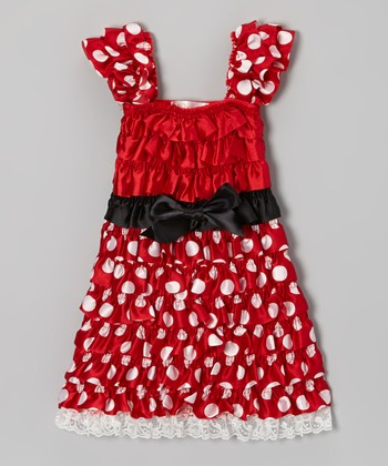 Red Polka Dot Ruffle Dress - Infant, Toddler & Girls