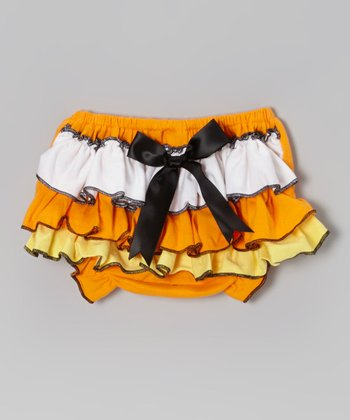 Candy Corn Ruffle Bloomers - Infant