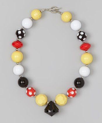 Red & Yellow Dot Necklace