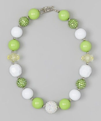 Lime Fairy Princess Necklace