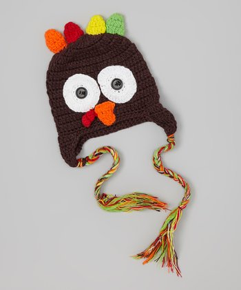 Brown Turkey Earflap Beanie