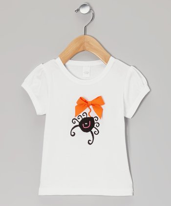 White Spider Top - Toddler & Girls