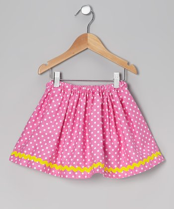 Pink Polka Dot Skirt - Infant, Toddler & Girls