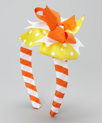 Yellow & Orange Candy Corn Headband