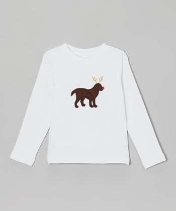 White Reindeer Dog Tee - Infant, Toddler & Boys