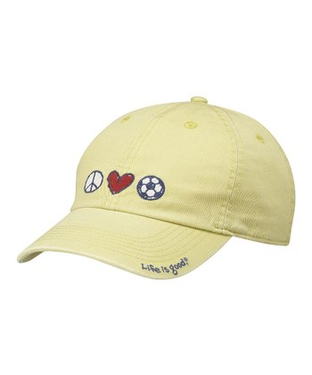 Retro Green Peace Love Soccer Chill Cap