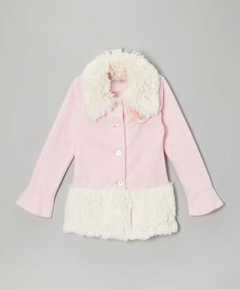Pink Leigh Shaggy Coat - Infant, Toddler & Girls